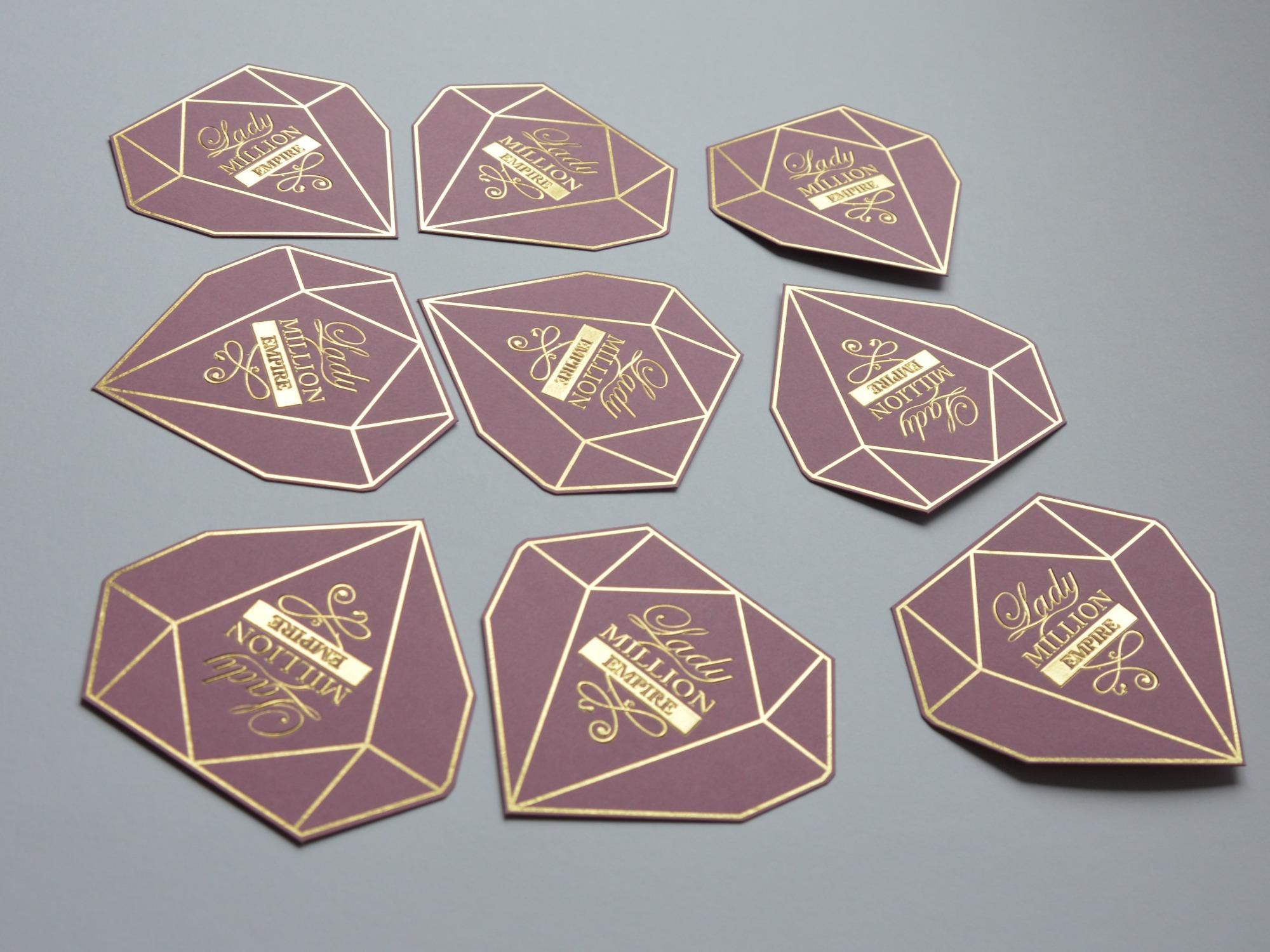 Blotters - Curvet hot-foil stamping